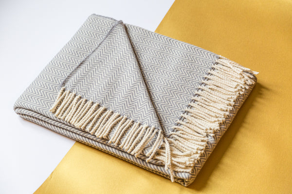Wonatur wool blanket in light grey