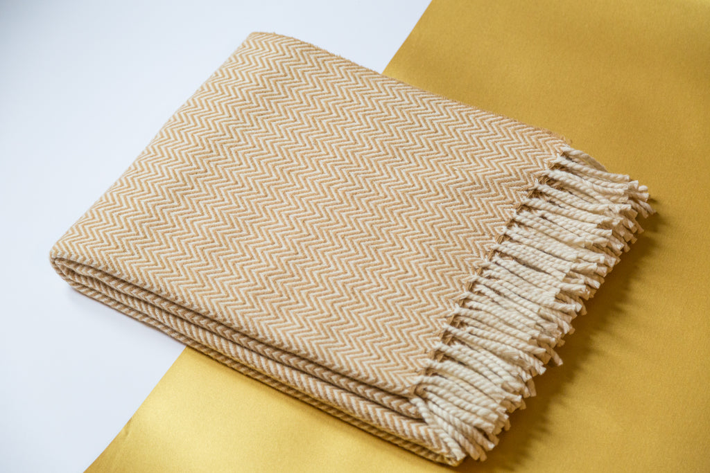 Wonatur Wool Blanket in curry
