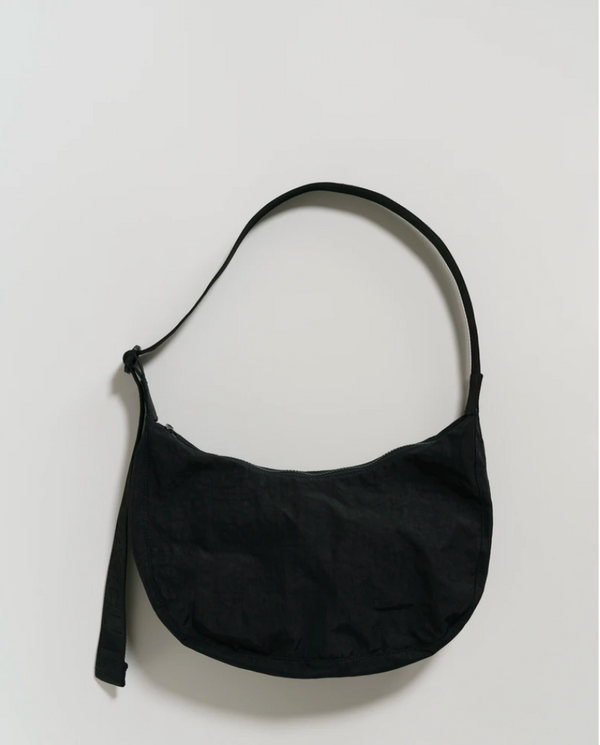 Baggu medium crescent bag - Schultertasche aus Nylon - black
