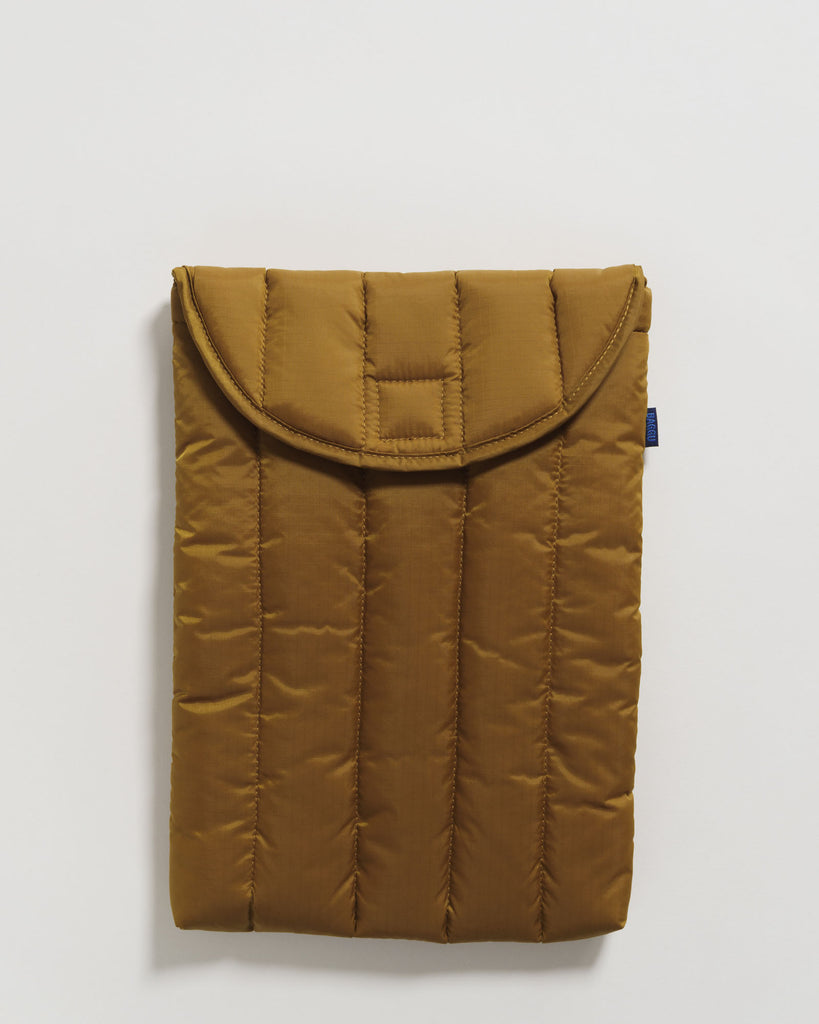 "Baggu puffy laptop sleeve 13"" - Laptop Tasche bronze"