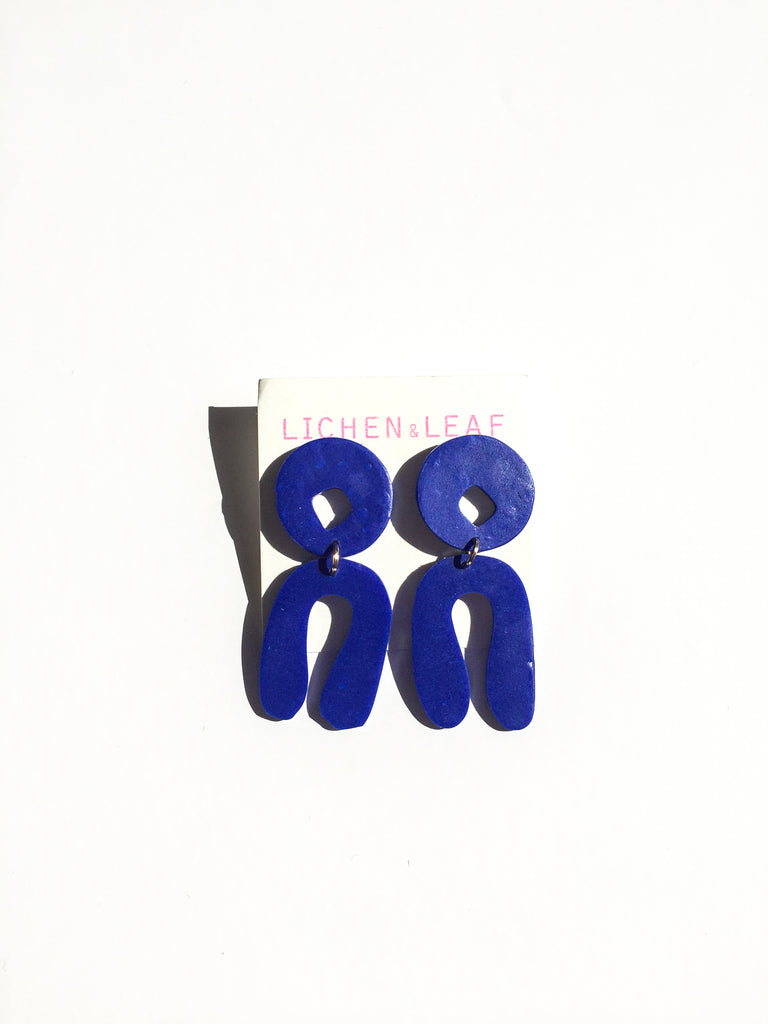 Proluo Earrings - cobalt blue