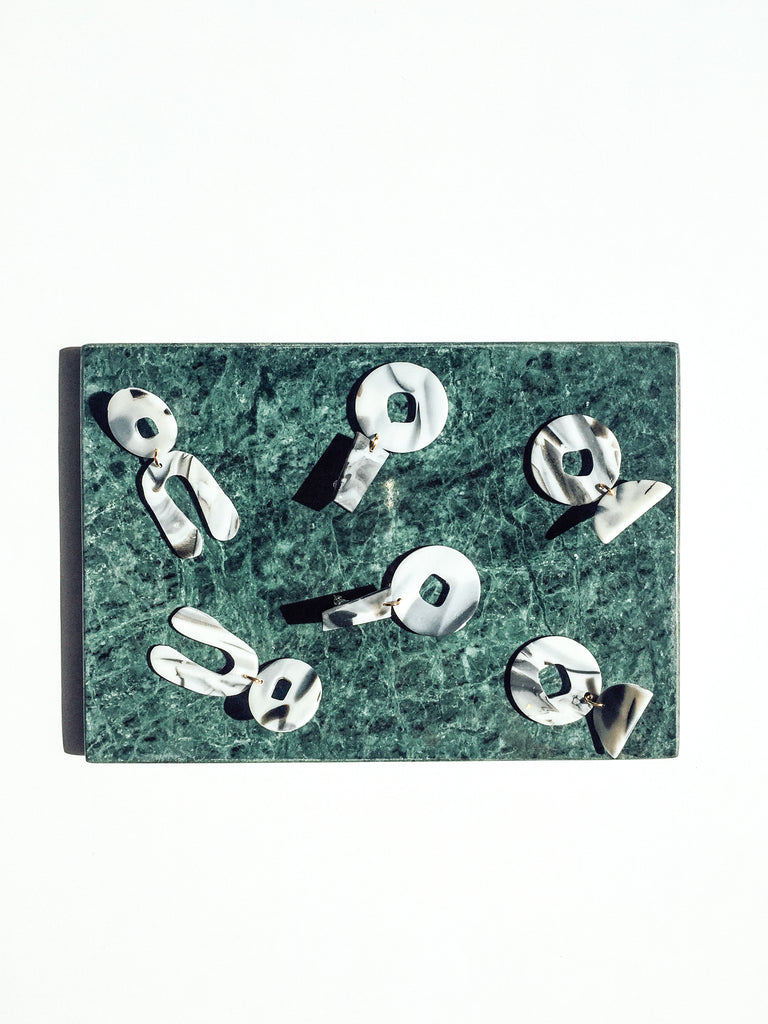 Proluo Earrings - marbled grey