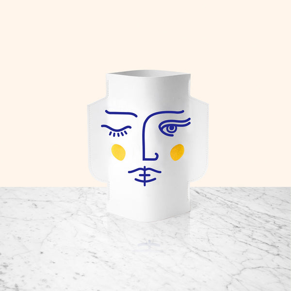 PAPER VASE JANUS DOUBLE-SIDED