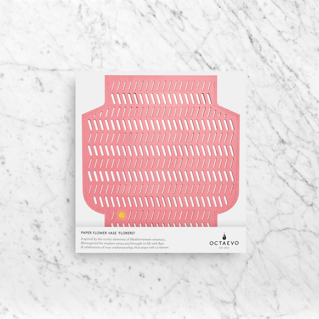 PAPER VASE AUREA PERFORATED PINK
