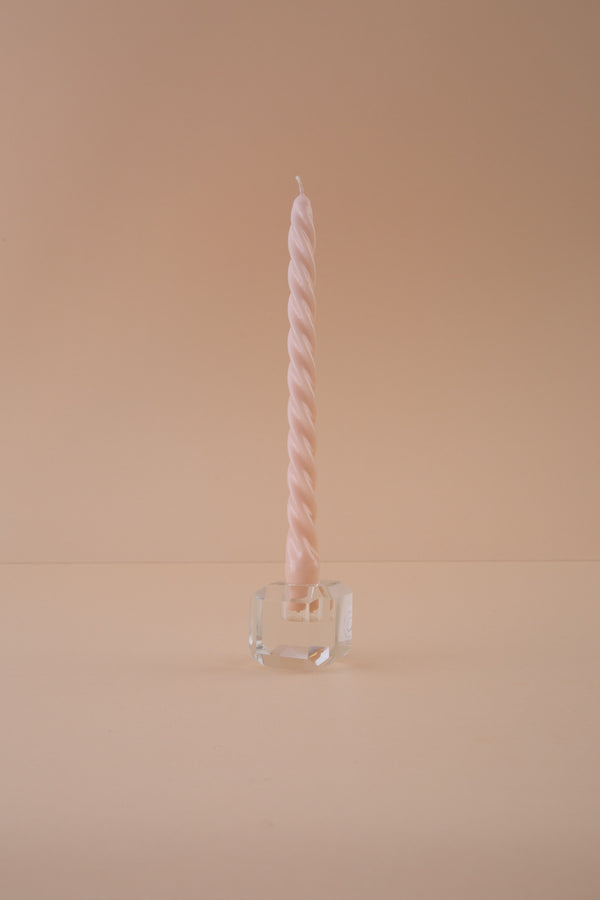 Twist Candle - peachy rose matt - 28cm - Spiralkerze