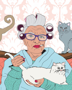 'The Crazy Old Cat Lady' Print