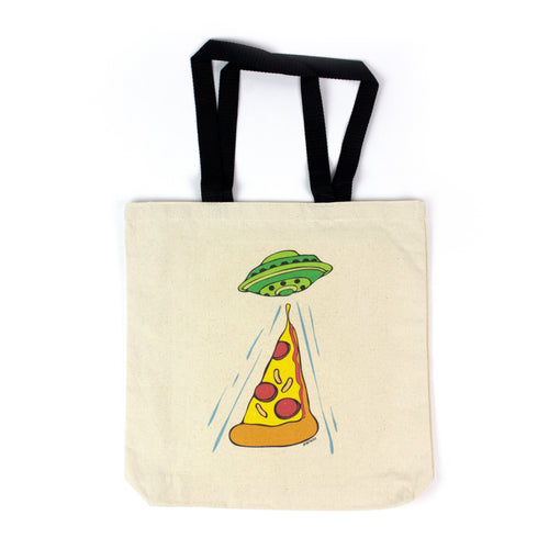Pizza Abduction Tote Bag