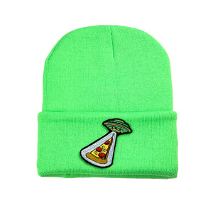 Green Patch Beanie