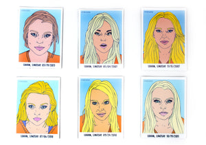 Lindsay Lohan Mugshot Magnets (Set of 6)