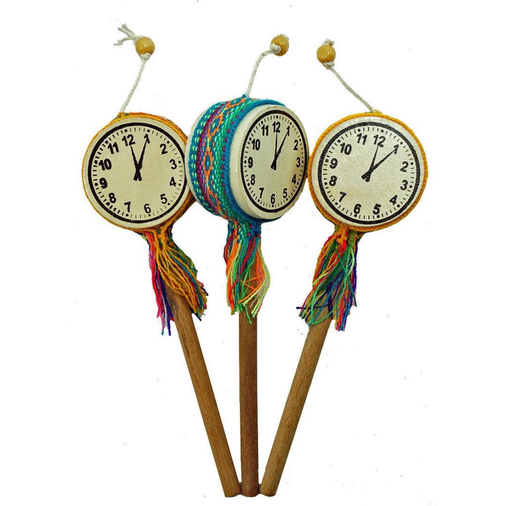 handmade-global-crafts - Tic Toc Clock Drum - Single - Jamtown World Instruments