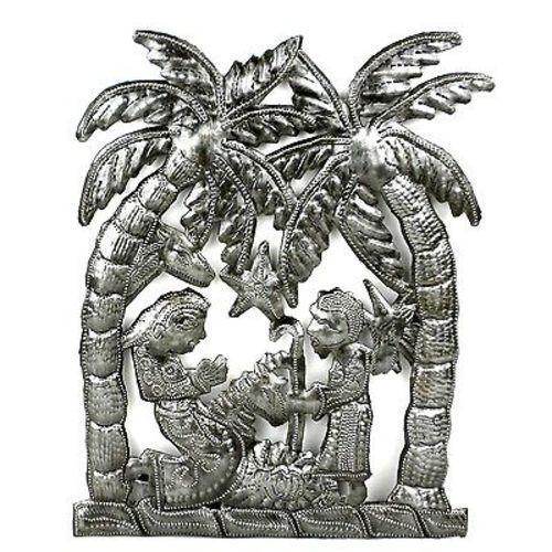 handmade-global-crafts - Palm Tree Nativity Wall Art - Croix des Bouquets (H)