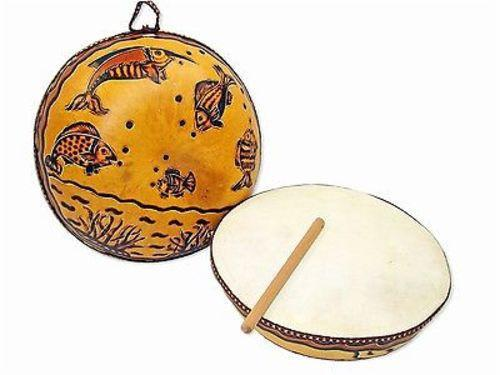 handmade-global-crafts - Ocean Gourd Drum - Jamtown World Instruments