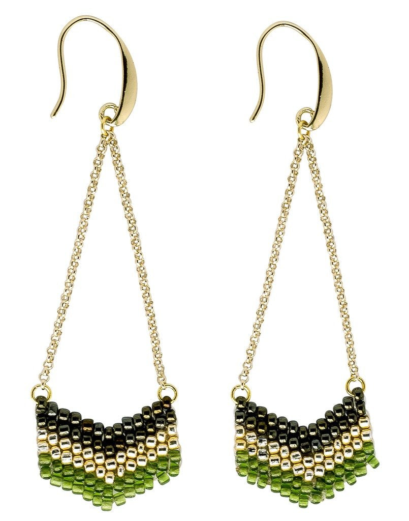 Earrings: Eve Verdant - Marquet (J)