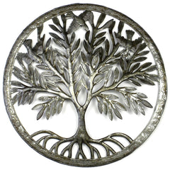 handmade-global-crafts - Tree of Life in Ring Wall Art - Croix des Bouquets