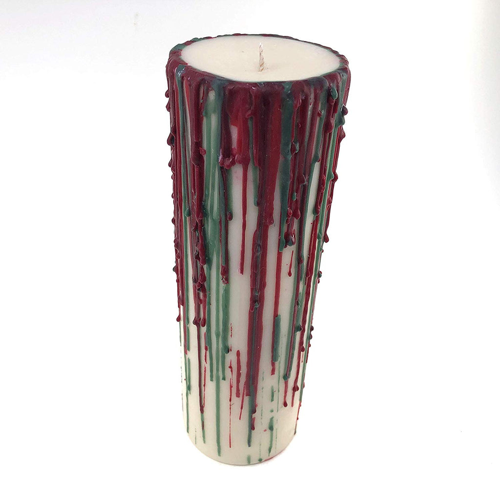 Handmade Pillar candle centerpiece 3 x 9 scented with peppermint Cocoa