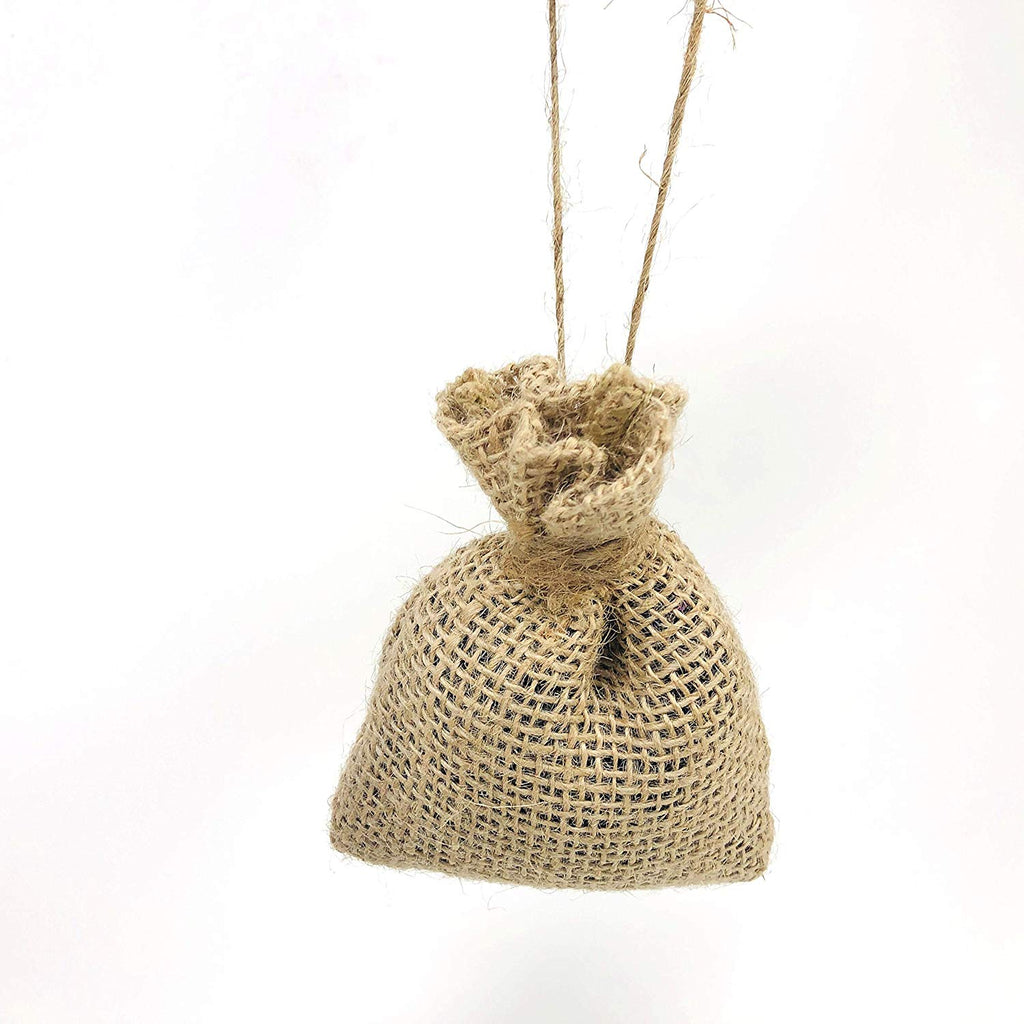 Mini burlap scented sack, sachet, Lavender Sage and Rosemary