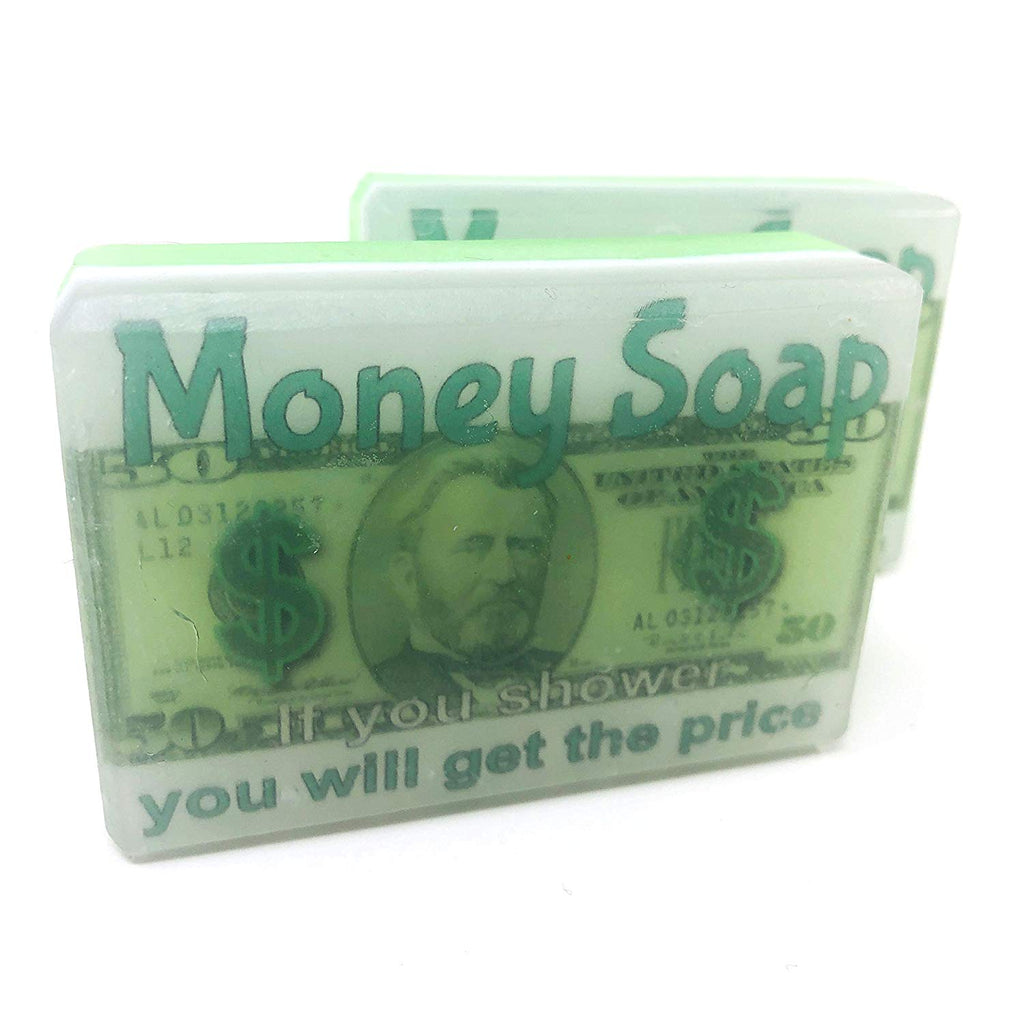 Cucumber melon scented, Money soap handmade with money price inside
