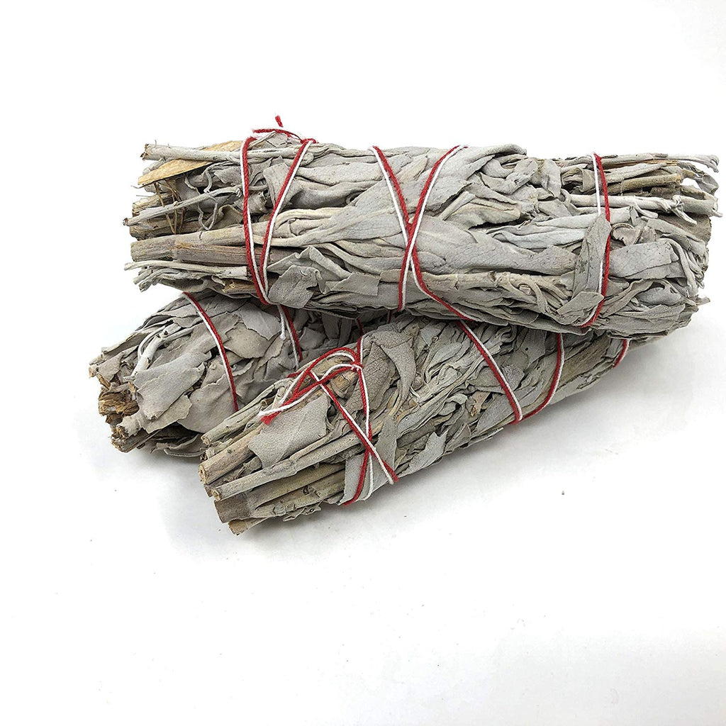 handmade-global-crafts - 3 pieces Handmade White sage stick cleanser use for aromatic smoke ritual