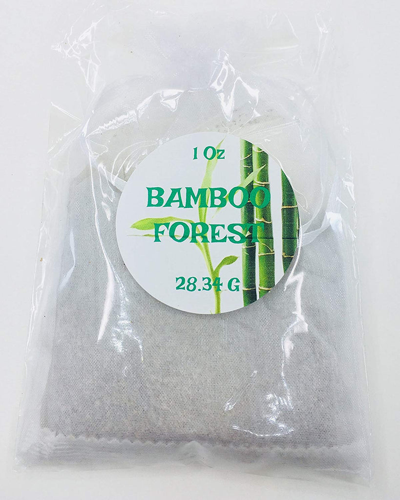 handmade-global-crafts - Bamboo Forest Sachet bag 1 oz each. 5 pz pack tea bag in organza individually packed