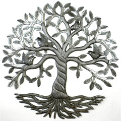 handmade-global-crafts - Twisted Tree of Life Metal Wall Art - Croix des Bouquets