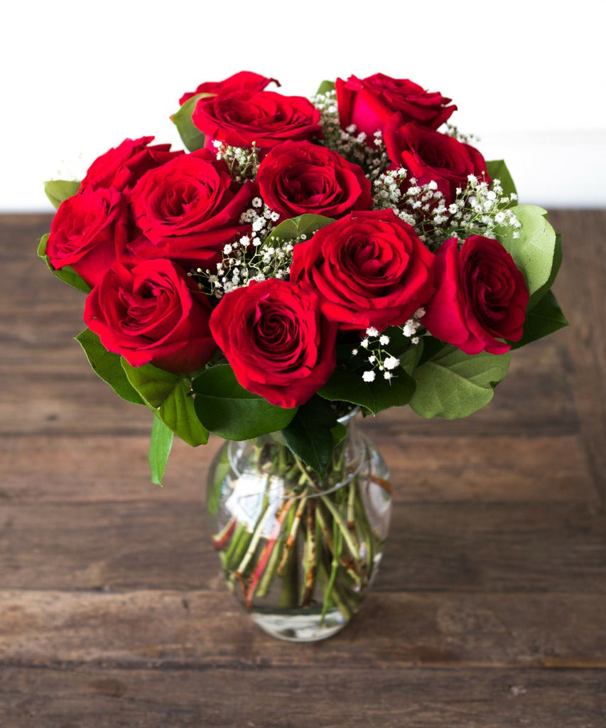 handmade-global-crafts - One Dozen Red Roses