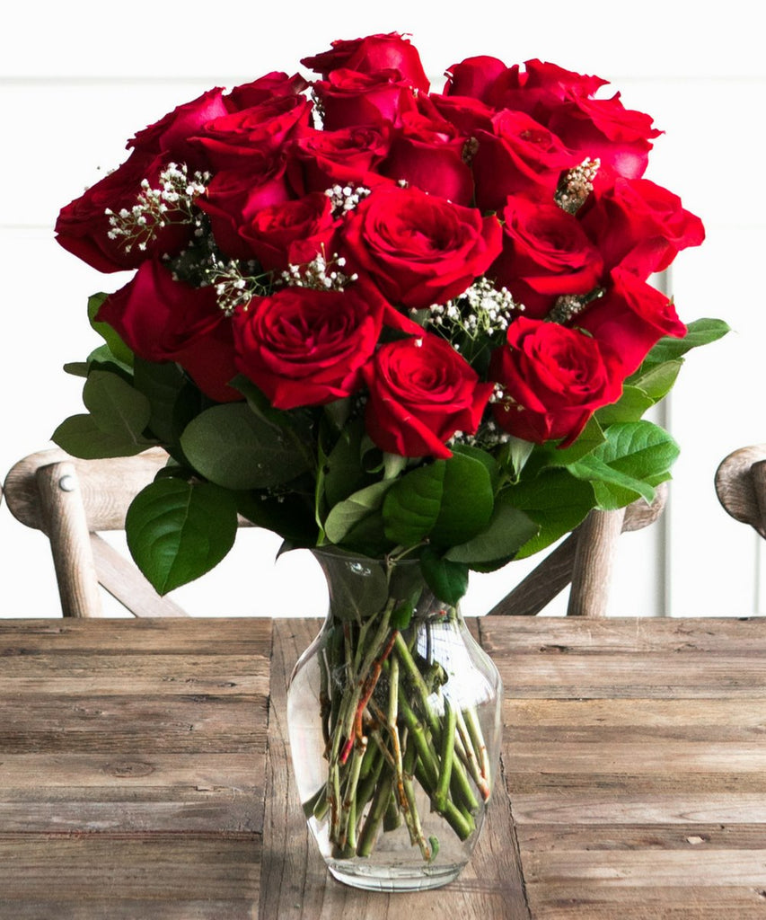 handmade-global-crafts - Two Dozen Red Roses