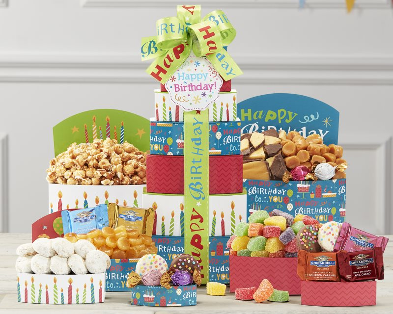 handmade-global-crafts - Make a Wish Gift Tower by Wine Country Gift Baskets