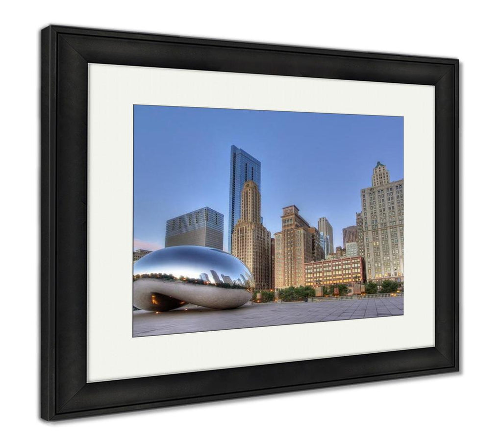 handmade-global-crafts - Framed Print, Cloud Gate At Millennium Park 1