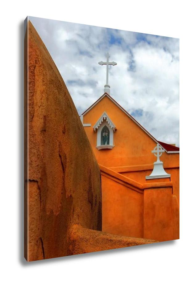 handmade-global-crafts - Gallery Wrapped Canvas, Albuquerque Church