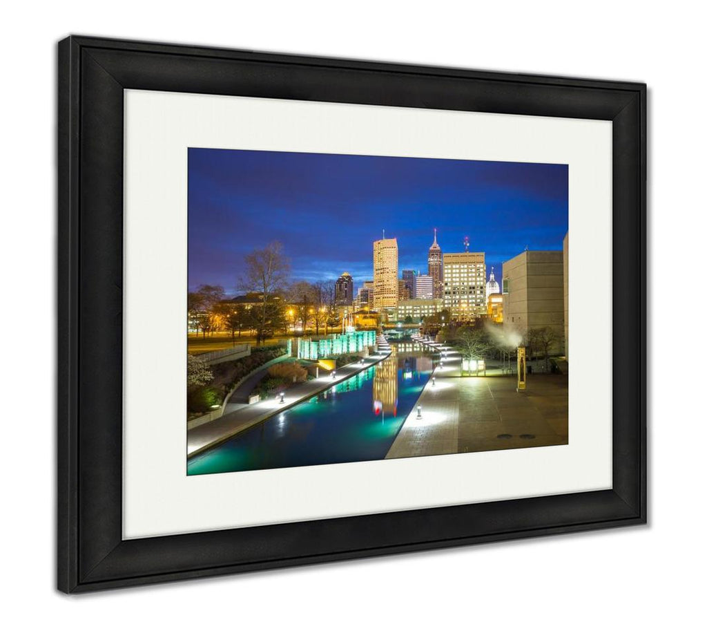 handmade-global-crafts - Framed Print, Downtown Indianapolis Skyline