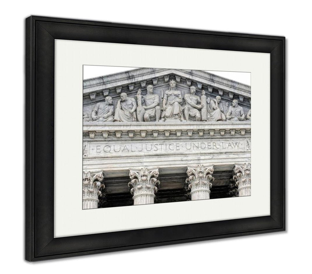 handmade-global-crafts - Framed Print, Supreme Court Building In Washington Dc Equal Justice Under Law