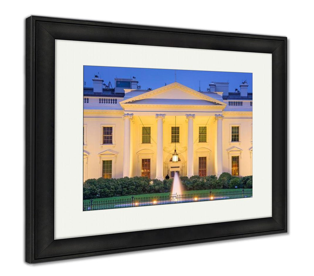 handmade-global-crafts - Framed Print, Washington Dc At The White House