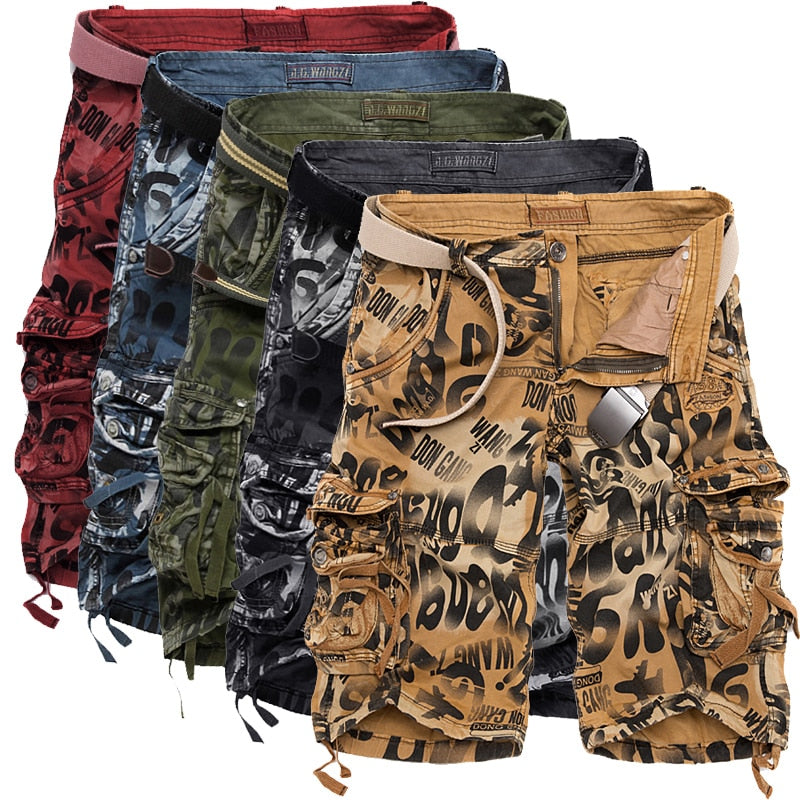 handmade-global-crafts - 2018 Summer New Large Size 29-40 Loose Mens Military Cargo Shorts Army Camouflage Shorts