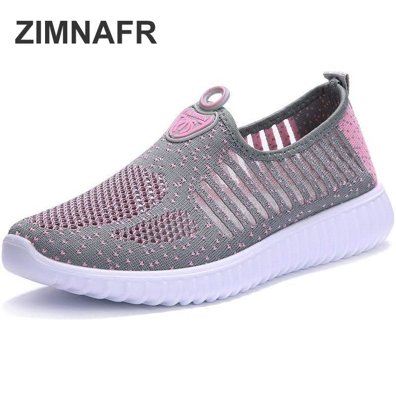 handmade-global-crafts - zimnafr women fashion sneakers Summer old Beijing casual shoes breathable mesh thick bottom light mother flat sandals