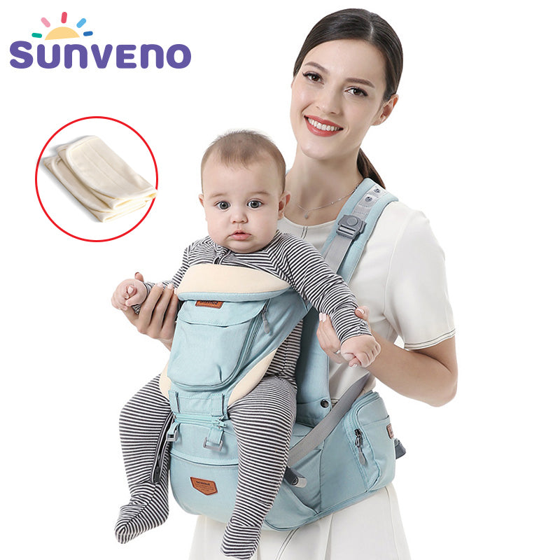 handmade-global-crafts - SUNVENO Ergonomic Baby Carrier Infant Baby Hipseat Waist Carrier Front Facing Ergonomic Kangaroo Sling for Baby Travel 0-36M