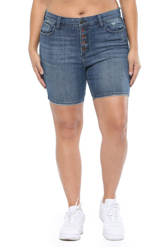 Bermuda High Rise Shorts (Curvy)