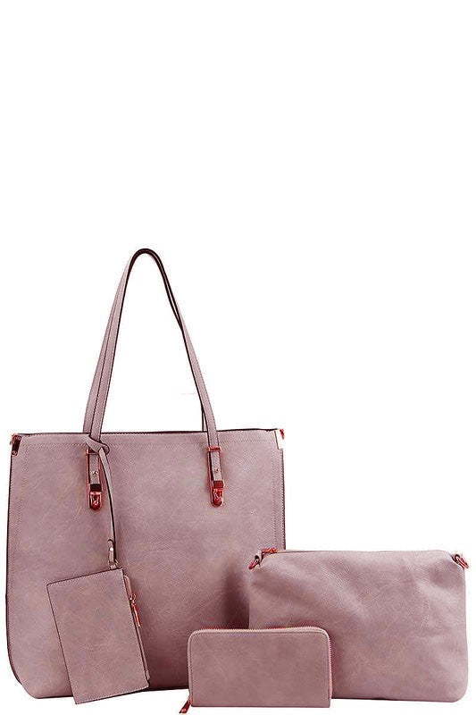 """The Emilie"" Blush Four in One Tote Purse"