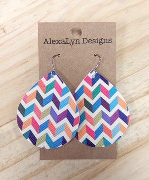 Spring Colored Chevron Earrings