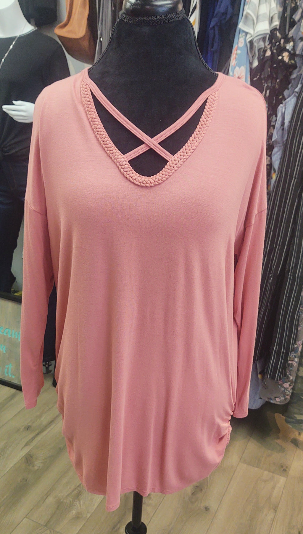 Rose Cross Neck Tunic