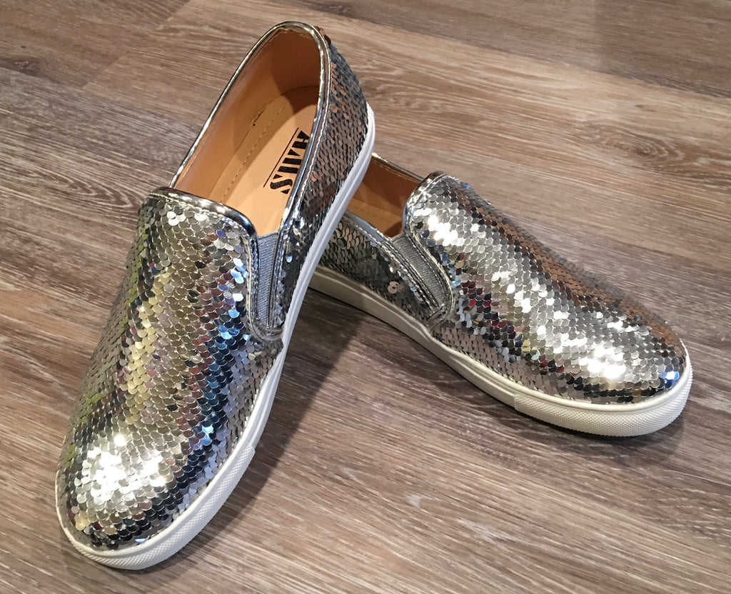 Silver Sequin Mermaid Slip On