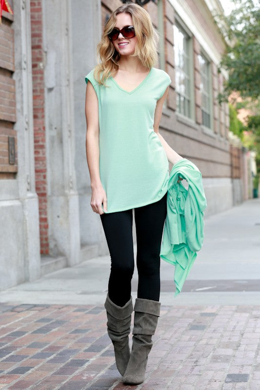 Mint Cardigan/Tank Set