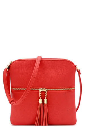 Coral Tassel Messenger Cross Body Purse