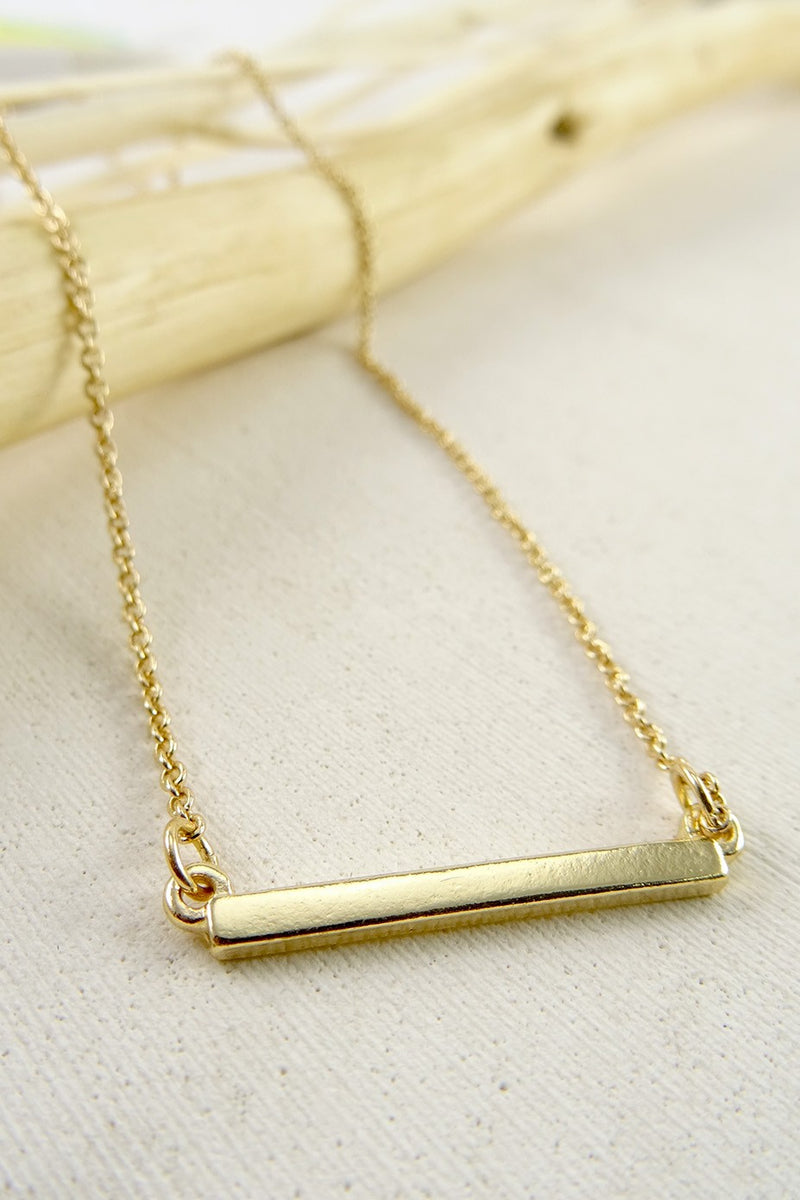 Delicate Gold Bar Necklace