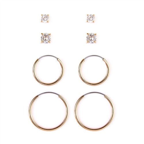 Gold Hoop and Stud Set