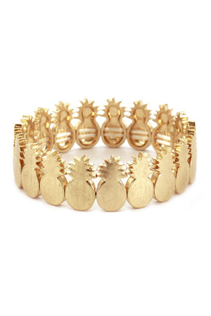 Gold Pineapple Stretch Bracelet