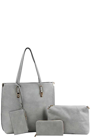 Gray Four in One Tote Purse