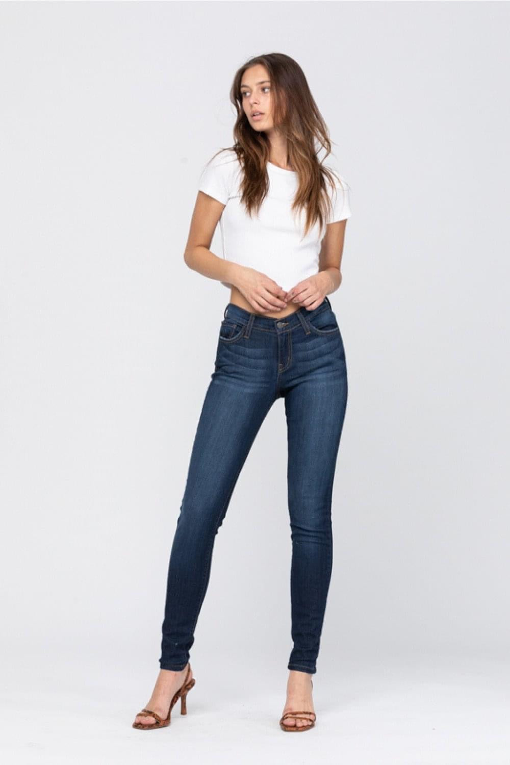 Judy Blue Super Dark Wash Skinny Jean