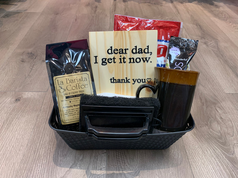 Father's Day Gift Basket With Coffee