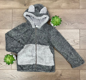 Kids Zip up Bear Sherpa