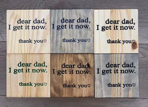 "Father's Day Sign ""Dear dad..."""